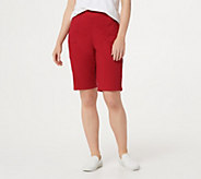 Denim & Co. How Timeless Bermuda Shorts with Pockets - A251423
