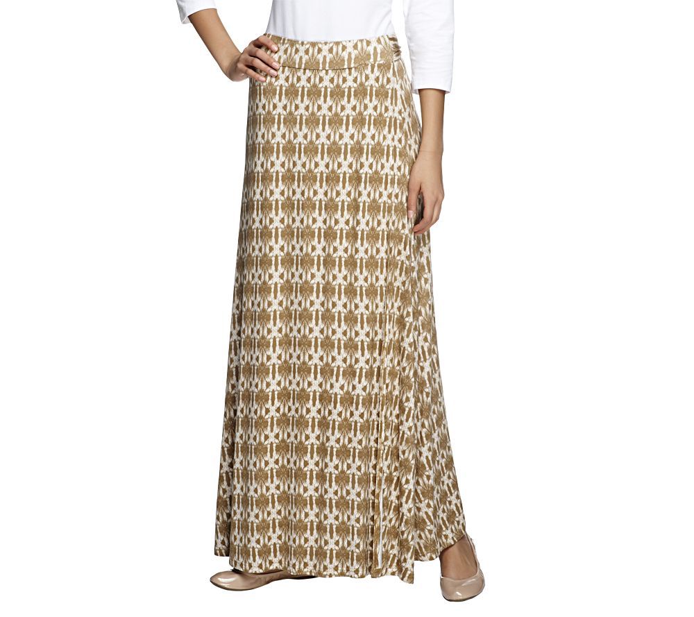 richie collection regular knit faux wrap maxi skirt