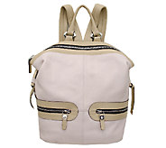 orYANY Pebbled Leather Holly Color-Block Backpack - A254123