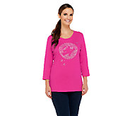 Quacker Factory Moonlighting Witch 3/4 Sleeve T-shirt - A257623