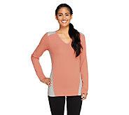 Denim & Co. Active V-neck Color-Block Top - A259223