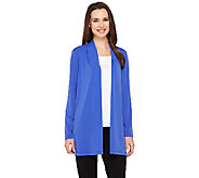 Susan Graver Liquid Knit Long Sleeve Open Front Cardigan - A261923
