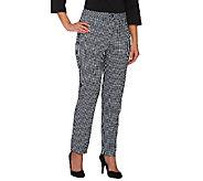 Susan Graver Stretch Woven Zip Front Ankle Pants w/Comfort Waist - A263823