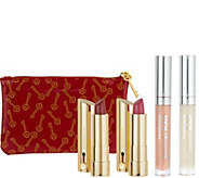 bareMinerals Dazzling Dimensions 4pc Lip Collection and Bag - A266523