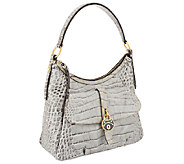 As Is Dooney & Bourke Leather Croco Fino Hobo - A266923