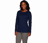 Liz Claiborne New York Essentials Crew Neck Long Sleeve Tee - A267423