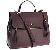Isaac Mizrahi Live! Nolita Pebble Leather Zipper Satchel - A267723