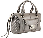 Aimee Kestenberg Pebble Leather Quilted Satchel - Zoe - A269123