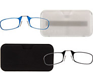 ThinOPTICS Set of Two Flexible Readers with Universal Case - A269423