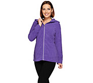 Denim & Co. Active Space Dyed Zip Front Jacket w/ Hood - A272123