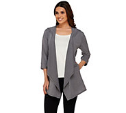 Cuddl Duds 3/4 Sleeve Jersey Knit Hooded Wrap with Comfortech - A273523