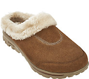 As Is Skechers GOwalk Suede Faux Fur Clog w/ Memory Form - Embrace - A276223