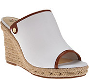 Isaac Mizrahi Live! TRUE DENIM Espadrille Wedge Mules - A277023