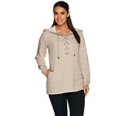 Linea Leisure by Louis DellOlio Long Sleeve Lace-Up Hoodie - A279523