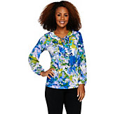 Susan Graver Printed Liquid Knit Top - A286723