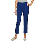C. Wonder Stretch Twill Pull-On Ankle Pants with Seam Detail - A288923