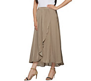 Lisa Rinna Collection Crinkle Charmeuse Maxi Skirt - A290723