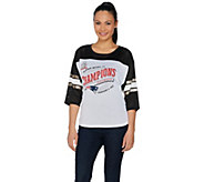 NFL Super Bowl 51 Champions New England Patriots Womens Mesh Top - A291923