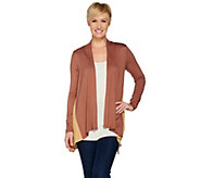 As Is LOGO Layers by Lori Goldstein Knit Cardigan w/ Side Godets - A295423