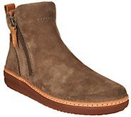 Clarks Artisan Leather Side Zip Ankle Boots - Amberlee Rose - A295923