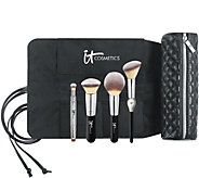 IT Cosmetics Limited Edition Luxe Brush Set w/ Brush Roll Makeup Bag - A296823