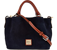 As Is Dooney & Bourke Suede Mini Barlow Handbag - A304623