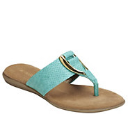Aerosoles Slip-on Thong Sandals - Nice Save - A340523