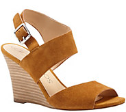 Sole Society Suede Asymmetrical Strap Wedge - Landry - A340723
