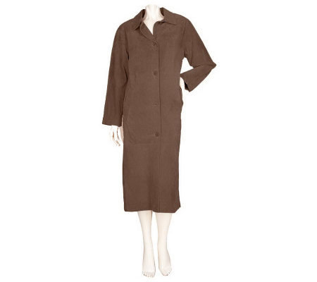 Centigrade Washable Suede Fully Lined Long Coat