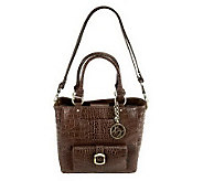 As Is Maxx New York Croco Emboss  Leather Small Shopper - A224424
