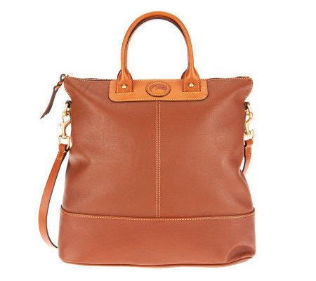 Dooney & Bourke Calf Leather Convertible Shopper