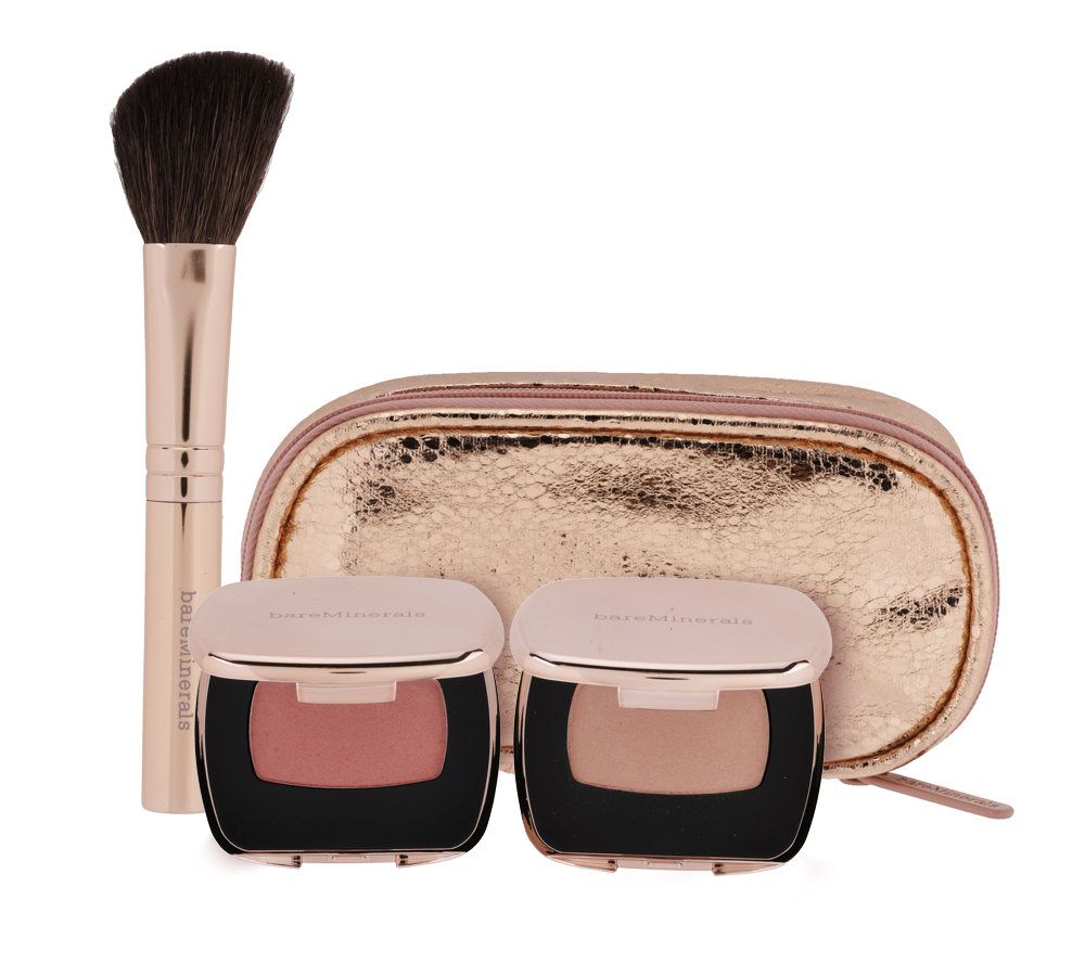 bareMinerals Tres Cheek Ready Blush 3-pc Collection with Bag