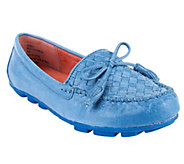 White Mountain Sprinkler Leather Woven Moccasins - A240824