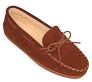 Minnetonka Mens Pile Lined Hardsole Slippers -XL - A245424