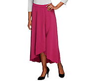 Bob Mackies Jersey Knit Pull-On Faux Wrap Skirt - A252324