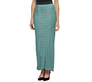 Lisa Rinna Collection Regular Striped Panel Long Knit Skirt - A253224