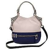 orYANY Pebbled Leather Mini Sydney Color-Block Crossbody - A254124