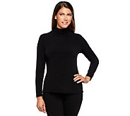 As Is Susan Graver Essentials Liquid Knit Long Sleeve Top - A254524