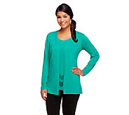 Joan Rivers Jersey Knit Cardigan & Sequin Tank Set - A254824