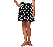 Susan Graver Printed Liquid Knit Pull-On Skort - A263824