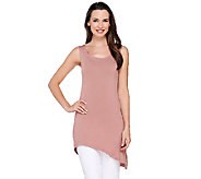 LOGO Layers by Lori Goldstein Angled Hem Scoop Neck Knit Tank - A264424
