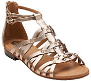 Clarks Artisan Leather Gladiator Sandals - Viveca Rome - A264624