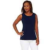 Susan Graver Passport Knit Scoop Neck Tank Top - A268024