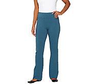 As Is LOGO Layers by Lori Goldstein Petite Wide Leg Knit Pants - A271024