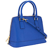 As Is Marc Fisher Eleanor Leather Zip Top Dome Satchel - A271324