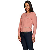 Denim & Co. Round Neck Utility Cropped Jacket - A274324