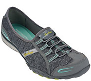 As Is Skechers Heather Jersey Bungee Slip-ons Good Life - A278624