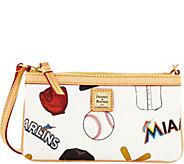 Dooney & Bourke MLB Marlins Large Slim Wristlet - A280224