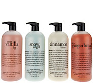 philosophy super-size 4-piece holiday shower gel favorites - A282324