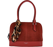 Tignanello Water Resistant Suede Leather RFID Dome Satchel - A282424